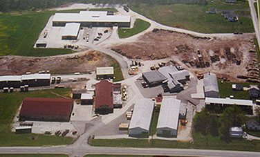 Aerial photo of Cook Lumber