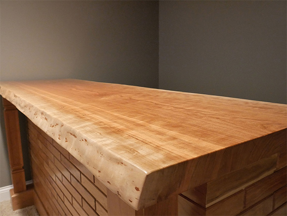 Solid Cherry Bar - Top