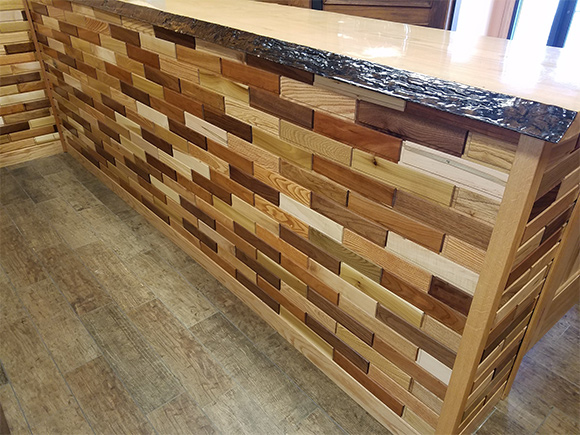 Mixed Species Counter with Live Edge Top