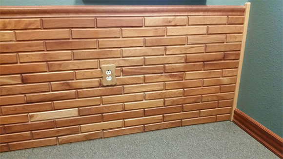 Solid Cherry Wall Panel