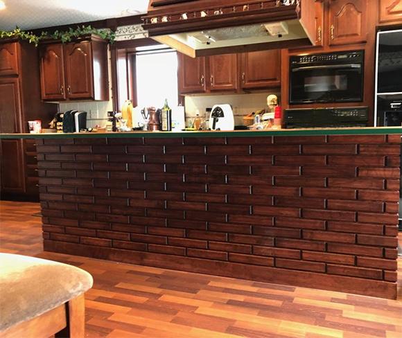 Cherry Woodbricks Kitchen Island (stained to match kitchen cabinets)
