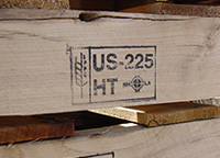 Heat Treated lumber closeup