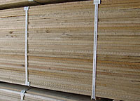Lumber packaged for international shipping