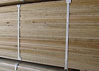Lumber packaged for international shipping