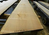 Live sawn cherry lumber