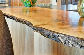 Live sawn counter top