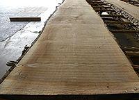 Live sawn walnut lumber