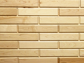 Hard Maple White Woodbricks Sample