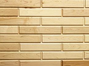 Hard Maple White Woodbricks Sample