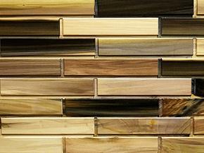 Rainbow Poplar Woodbricks Sample