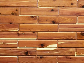 Red Cedar Woodbricks Sample