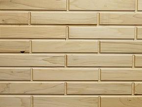 White Poplar Woodbricks Sample