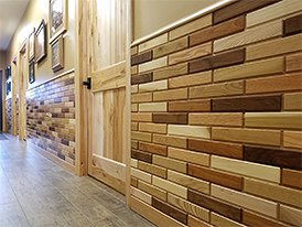 Wood bricks